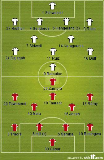 Fulham v QPR (Lineups)