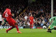 Fulham 1-3 Liverpool (Sturridge 2nd goal)