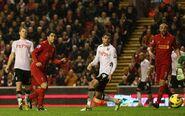 Liverpool 4-0 Fulham (Suarez goal)