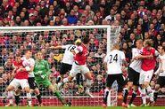 Arsenal 3-3 Fulham (Giroud 1st goal)