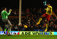 Fulham 0-5 Watford (Deeney 2nd goal)