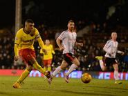 Fulham 0-5 Watford (Deeney 3rd goal)
