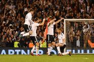 Fulham 2-0 Derby (Celebration)