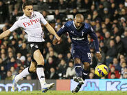 Fulham 0-3 Tottenham (Defoe 2nd goal)