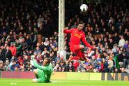 Fulham 1-3 Liverpool (Sturridge 3rd goal)