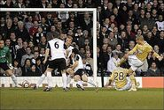 Fulham 4-1 Juventus (Trezeguet goal)
