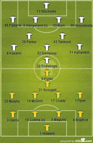 Fulham v Sheff Utd (2013-14 Lineups)