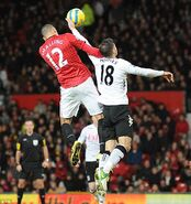 Man Utd 4-1 Fulham (Hughes handball)