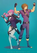 Mikey and Kylie by SolKorra