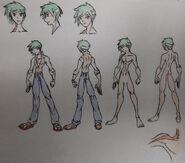 Mark Rosen (Markus), human attire and anatomy