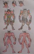 Kichi, Ogre Armor and Anatomy