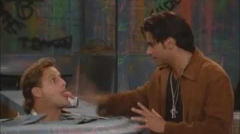 Full House Funny Clip - Joey's head gets stuck in a counter
