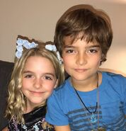 Mckenna Grace and Elias Harger