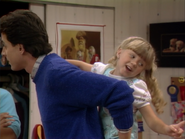 Jodie Sweetin as Stephanie Tanner and Bob Saget as Danny Tanner2 - Full House,S1 - Our Very First Show