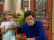 Jodie Sweetin as Stephanie Tanner and Bob Saget as Danny Tanner - Full House,S1 - Our Very First Show