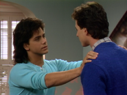 John Stamos as Jesse Katsopolis (Jesse Cochran) and Bob Saget as Danny Tanner3 - Full House,S1 - Our Very First Show