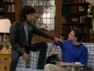 John Stamos as Jesse Katsopolis (Jesse Cochran) and Bob Saget as Danny Tanner - Full House,S1 - Our Very First Show