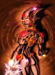 Fmafnwiki2mechalustd5 female robot demon by channandeller
