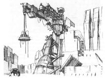 Crane and Little Todd concept art