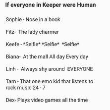 Keeper Crew But Human
