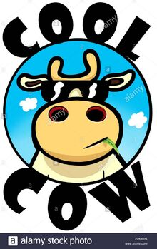 Cow-wearing-sunglasses-against-sky-G2MB29