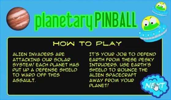 Planetary Pinball Title