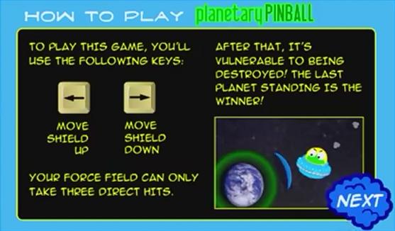 Planetary Pinball Instructions