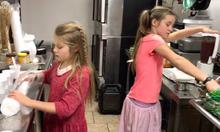 Hannie and jenni in kitchen