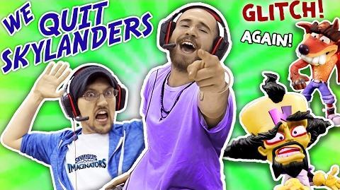 WE QUIT SKYLANDERS w DALLAS the PIZZA GUY! IMAGINATORS GLITCHES AGAIN!! Crash Bandicoot Level