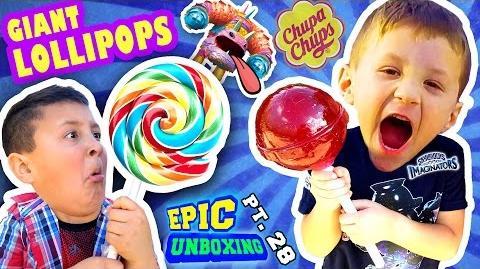 GIANT CHUPA CHUPS LOLLIPOPS vs. TOY! Smash w Candy (Skylanders Imaginators Epic Unboxing Pt. 28)