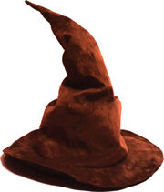 Brown wizard hat