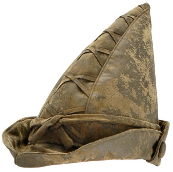 A robin hood hat is often made out of leather or to look like leather. It  was worn by a fictional character called Robin Hood who was highly skilled  with a ... 5a67fb2f57c
