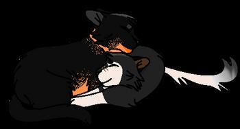 Flickerheart and Halfwolf (drawn by Eyota)