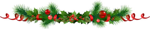 File:Transparent Christmas Pine Garland with Mistletoe Clipart-1024x201.png