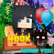 ItsFunneh 400k Thank you