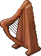 Wooden Harp Large
