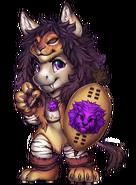 Horse-lion-warrior-costume