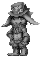 Steampunk rabbit base