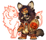 Fox-blessed-lion-warrior-costume