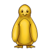 1500-gold-penguin-statue