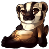 966-american-badger-mustelid-plush