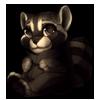 1004-melanistic-raccoon-plush