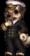 Canine captain pug