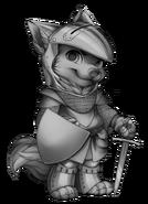 Knight wolf base