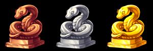 Serpent-trophies