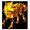 1774-gold-mechanical-wolf