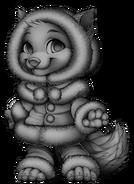 Fluffy wolf base