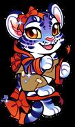 Gift Wrap Tiger Chibi