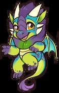 Dragon-chibi-green
