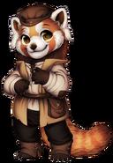 Red panda peasant